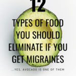 A picture of an avocado with text about migraine diets