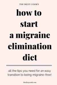 get started on a migraine elimination diet