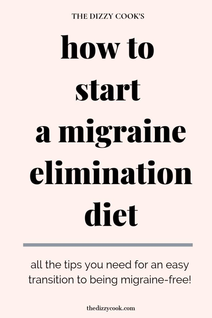 get started on a migraine elimination diet