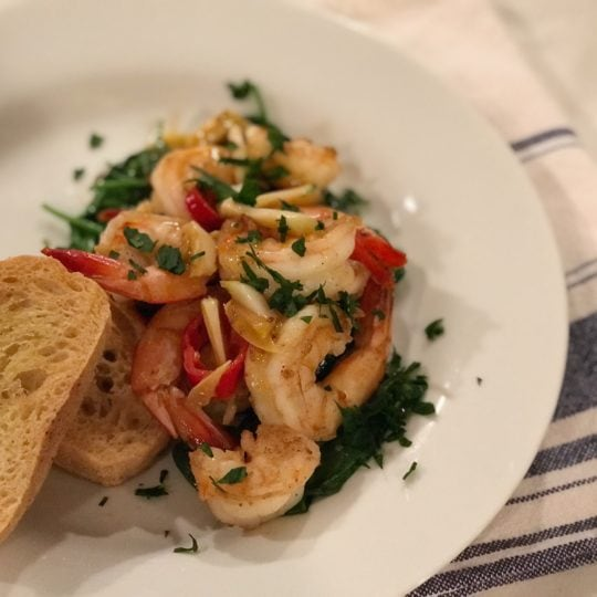 The Dizzy Cook Garlic Chili Shrimp