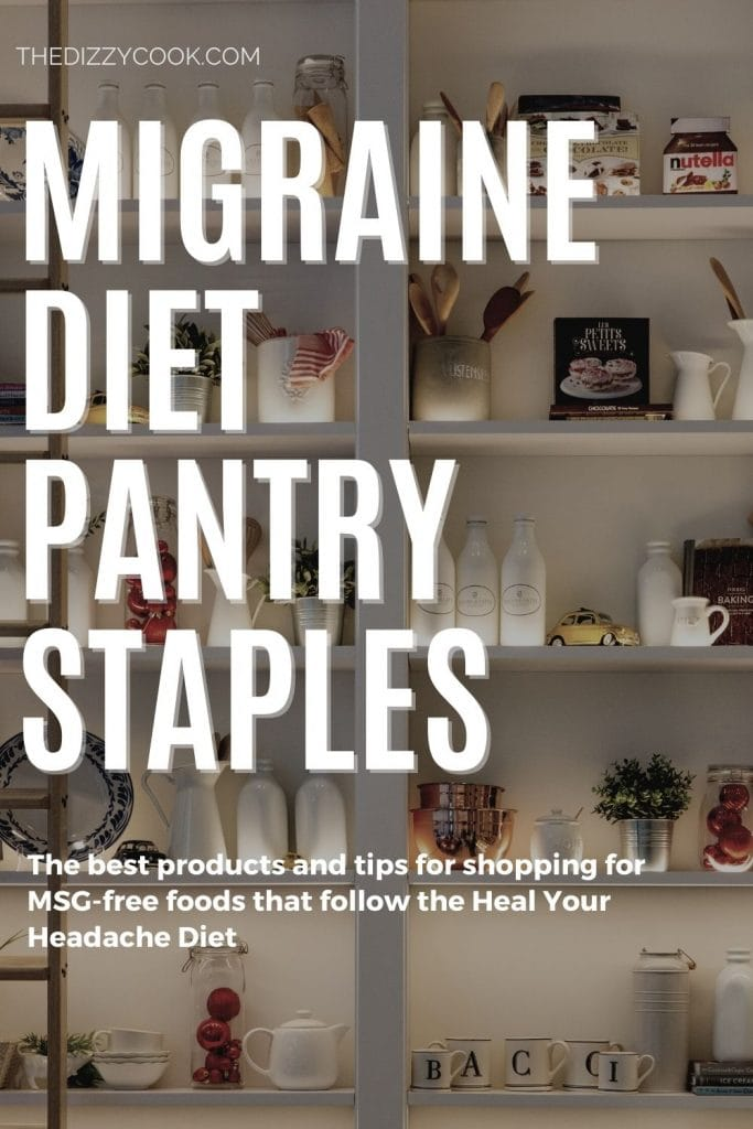 pantry staples for the heal your headache migraine diet
