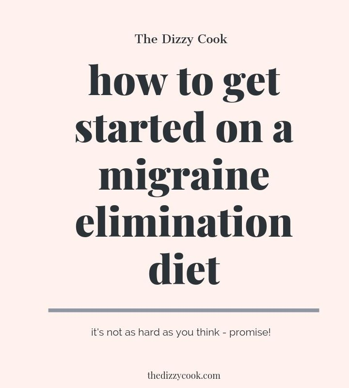 How to get started on a migraine elimination diet