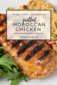 Moroccan spiced grilled chicken with couscous