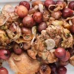 Roasted chicken with grapes and rosemary three ways