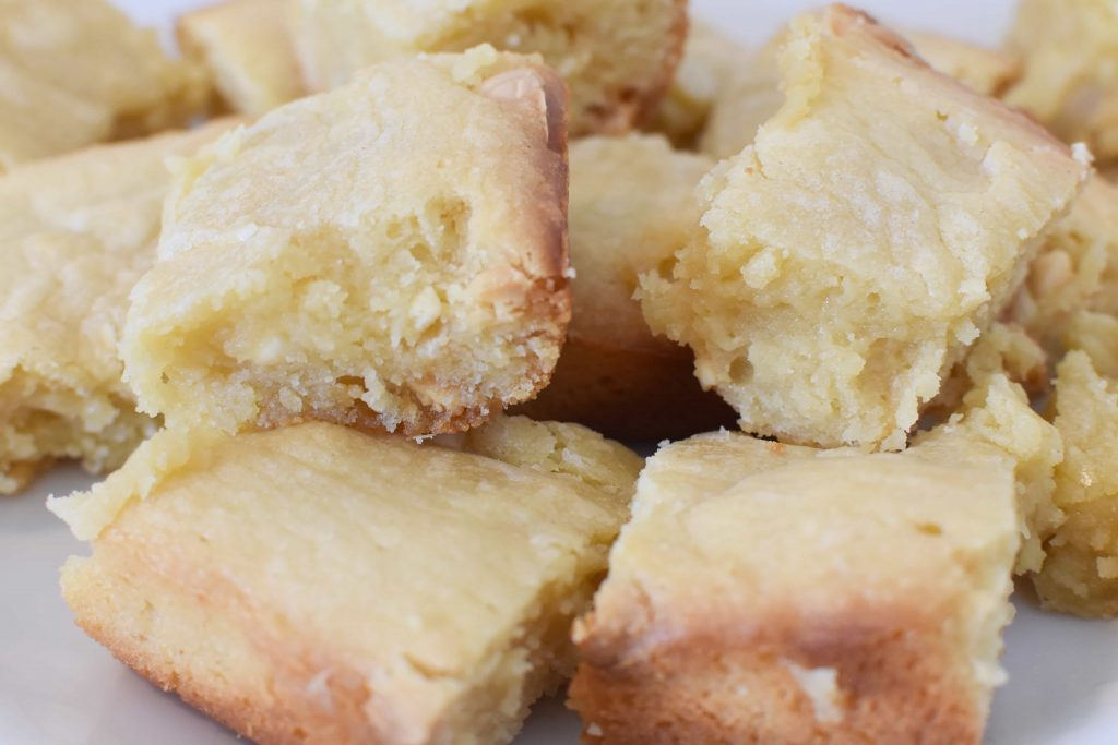 Extra Gooey White Chocolate Blondies