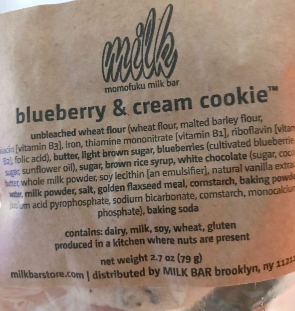 Milk Bar Blueberry and Cream Cookie