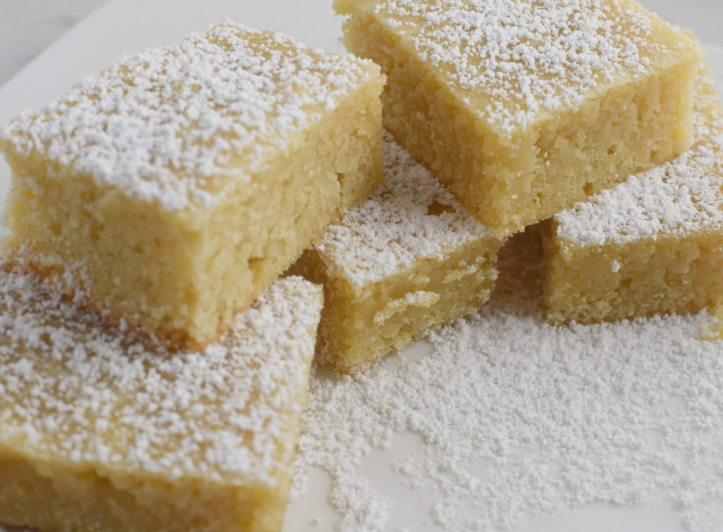 Gluten Free White Chocolate Blondies