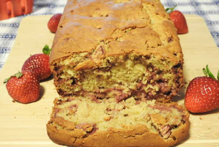 Gluten Free Strawberry Cream Cheese Bread, Gooey and Delicious