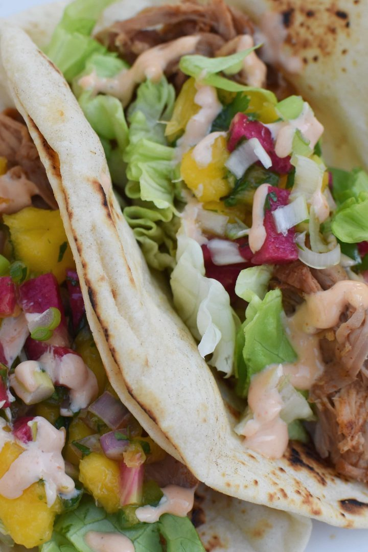 Instant Pot Mexican Pulled Pork Tacos with Mango Salsa - Migraine Diet and Heal Your Headache Safe