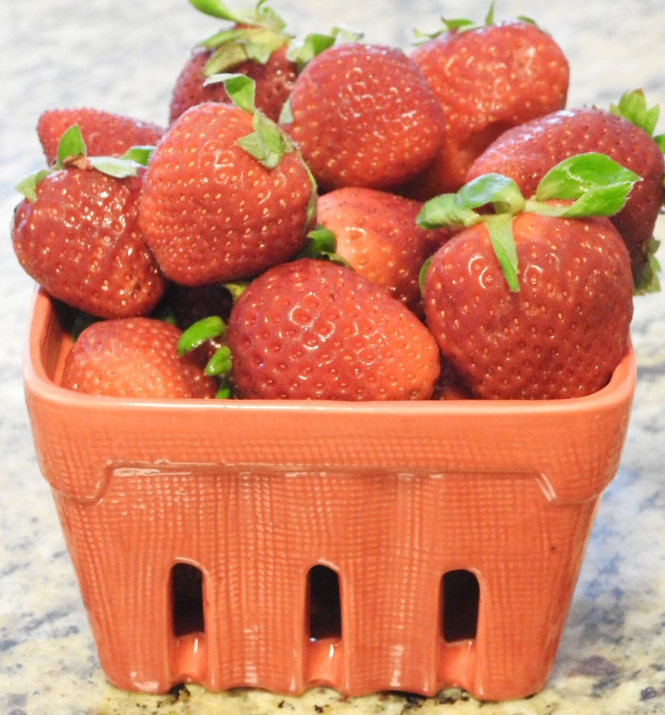 Strawberries in a container