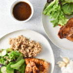 This honey garlic chicken recipe is the perfect weeknight meal! Ginger, garlic, and cumin are combined with a creamy sauce that your family will love. #weeknightmeal #chicken #easymeal #chickenbreast
