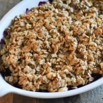 Black and Blueberry Crisp | Gluten Free Fruit Crumble Dessert