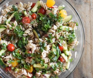 Gluten Free, Healthy Mediterranean Pasta Salad | Heal Your Headache Migraine Diet Friendly #pastasalad #glutenfree #healthy