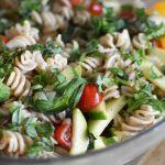 Gluten Free, Healthy Mediterranean Pasta Salad | Heal Your Headache Migraine Diet Friendly #pastasalad #glutenfree