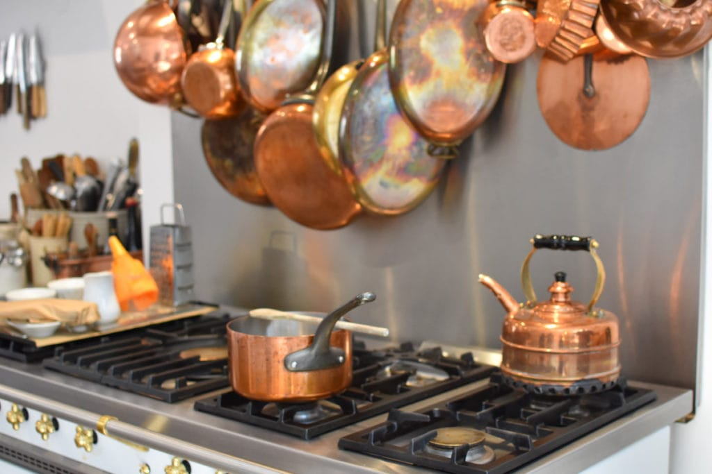 Copper Pots and Pans at The Cooks Atelier Class