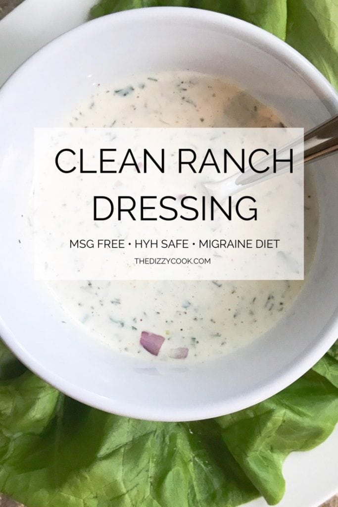Clean MSG Free Ranch Dressing | Heal Your Headache Migraine Diet #cleanranchdressing #dressingrecipe #ranchdressing #msgfree #migrainediet
