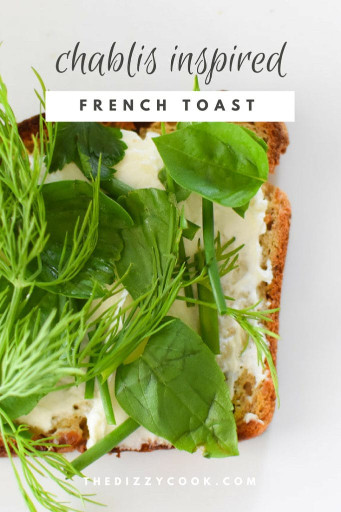 Chablis inspired french toasts | gluten free with fresh herbs, migraine diet HYH friendly