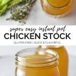 Easy instant pot chicken stock