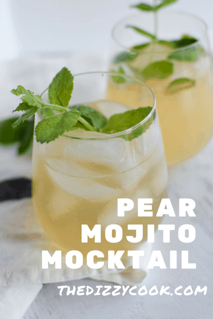 In search of a citrus free mocktail for the summer? This pear mojito is a wonderful, refreshing take on the classic cocktail #mojito #mocktail #pear