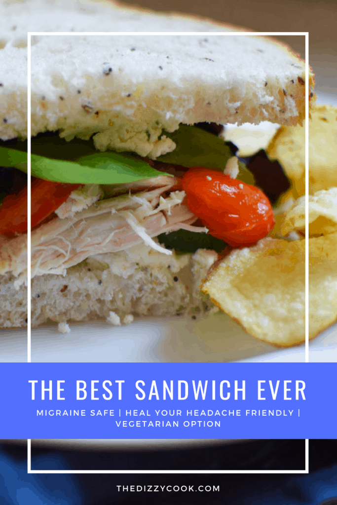 The best sandwich ever with one simple secret ingredient! This sandwich can be made vegetarian friendly and is Heal Your Headache Migraine Diet safe #sandwich #lunchrecipes