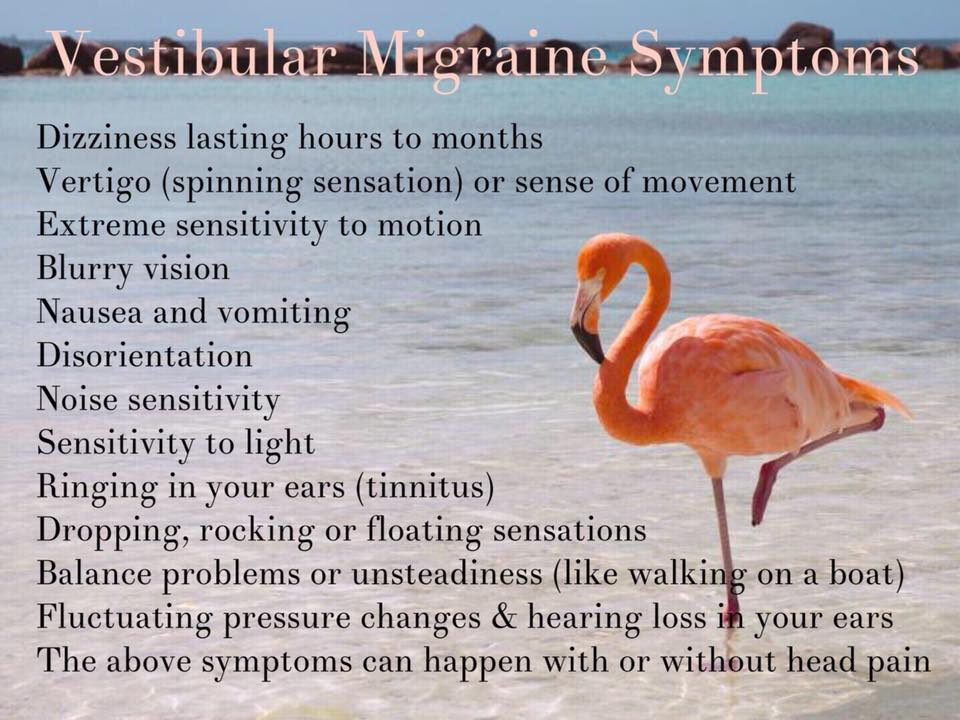 Graphic on Vestibular Migraine Symptoms