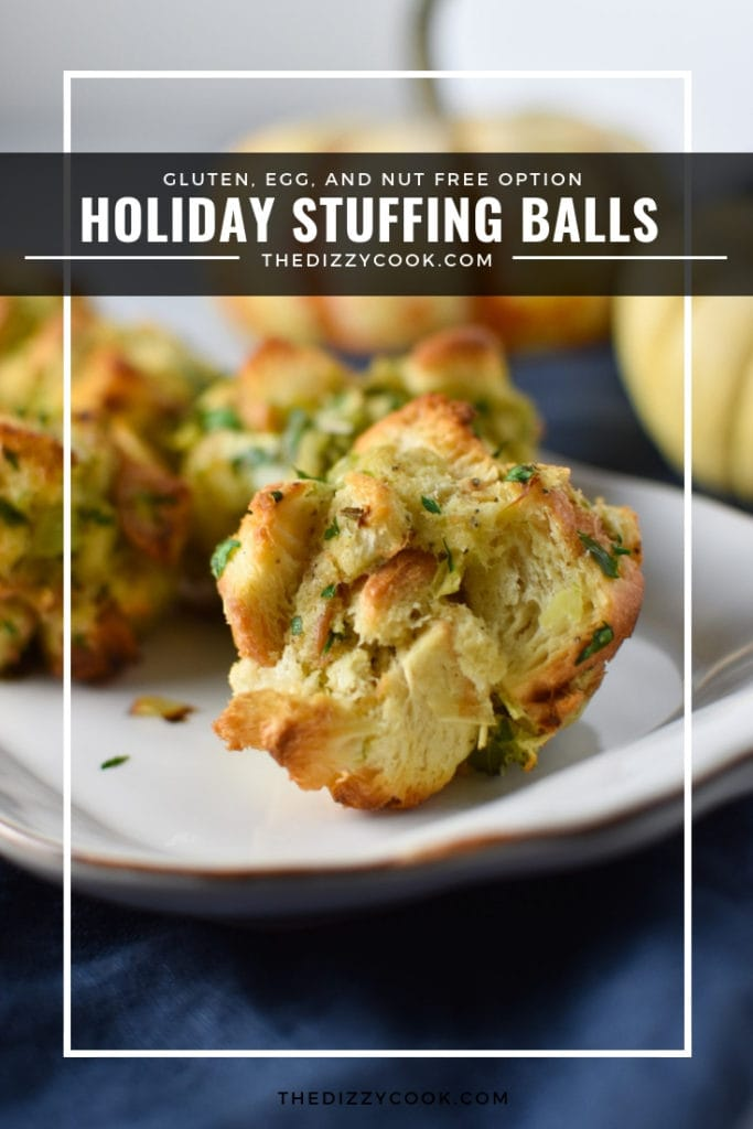 Easy stuffing balls that are perfect for Thanksgiving and Christmas. These balls freeze very well, great for holiday meal prep. #stuffing #thanksgiving #christmas #recipes