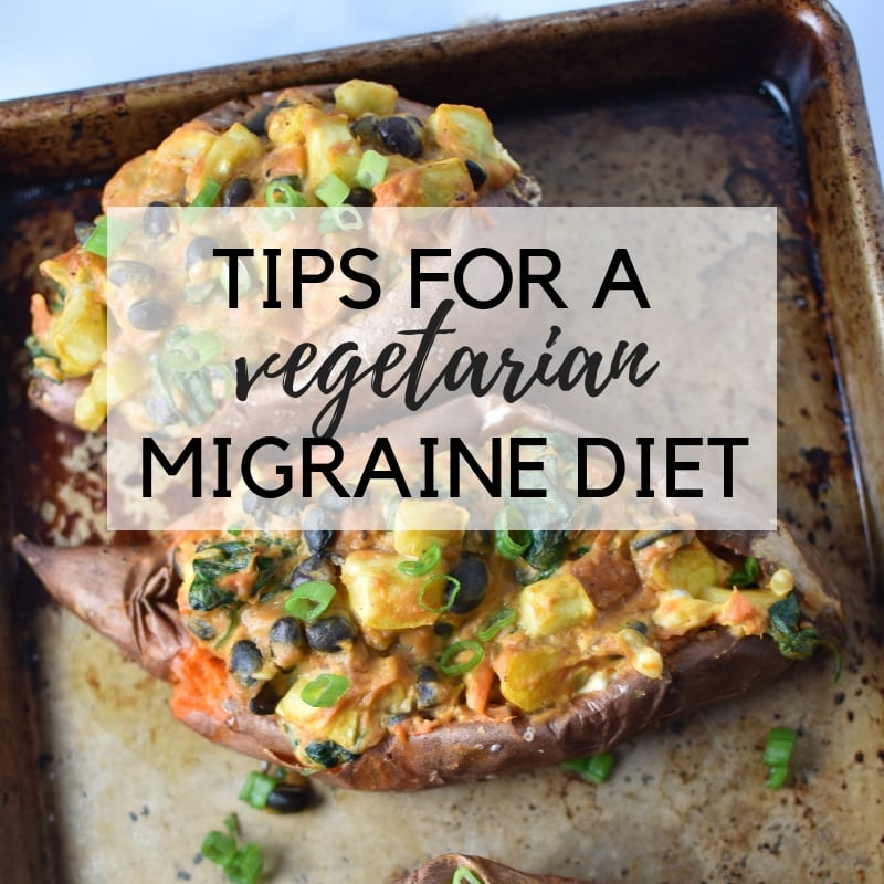 Is being a vegetarian or a vegan possible on a migraine diet? Here are some tips on protein sources that are migraine safe. #vegetarian #migrainediet