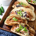 Instant Pot Chicken Tinga Tacos (crock pot instructions too). Easy to throw together for a MSG free weeknight meal. #tacos #instantpot #chicken