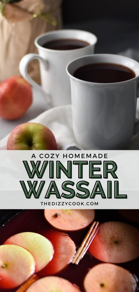 winter wassail in a slow cooker