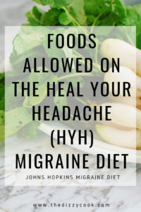Free printable pages for foods allowed on the Heal Your Headache (HYH) Migraine Diet, also the Johns Hopkins Migraine Diet. #migraine #migrainediet #migraineremedies #healyourheadache