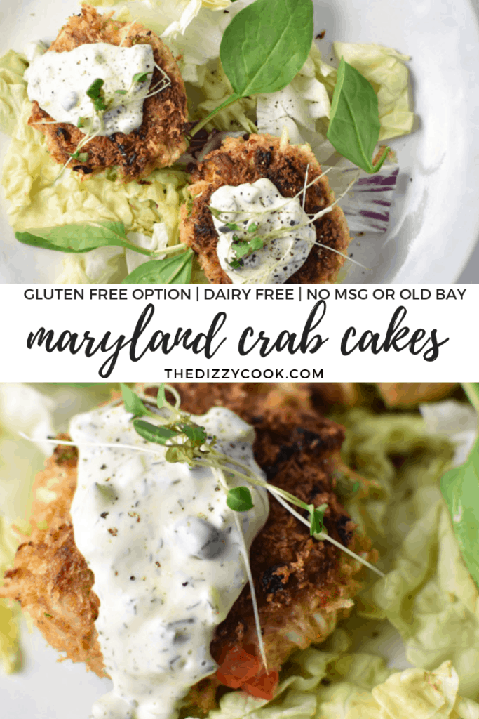Guaranteed additive and MSG-free, this recipe is packed full of crab and uses a simple mix of spices that are common in Old Bay seasoning. #crabcakes #glutenfree #dairyfree
