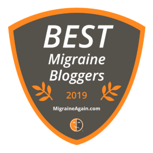 A badge of best migraine bloggers by migraine again