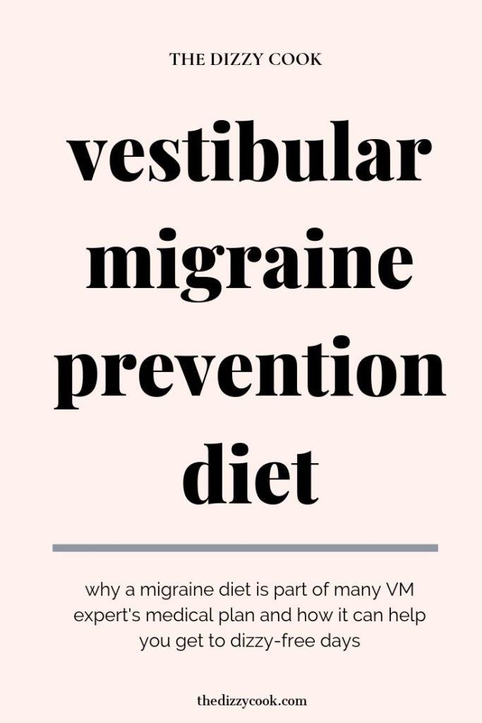 Vestibular migraine prevention diet