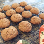 spiced honey cookies on a cooling rack