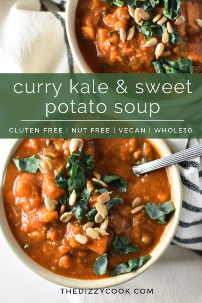Curry Kale and Sweet Potato Soup