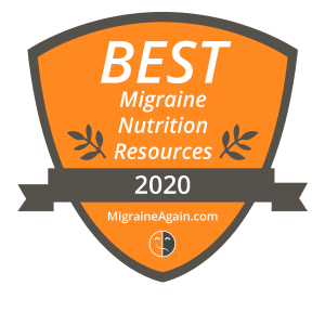 A picture of best migraine resources by migraine again award