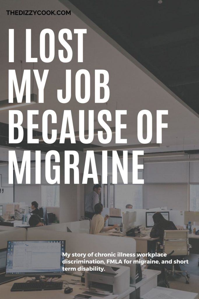 A pin for an article about migraine at work and fmla for migraines