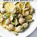 Steamed Clams in Wine-Free Herbed Butter Broth