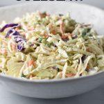 Paleo coleslaw in a white bowl